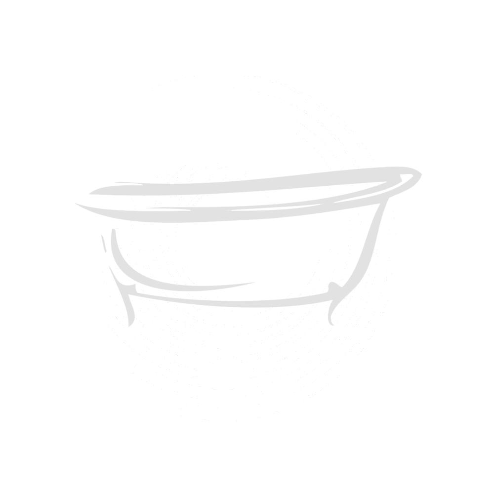 Blanco P Shape Bathroom Suite, including Vanity Unit, Shower Bath and WC
