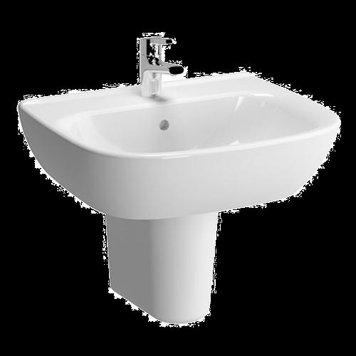 VitrA Zentrum 600mm 1 Tap Hole Washbasin With Semi Pedestal