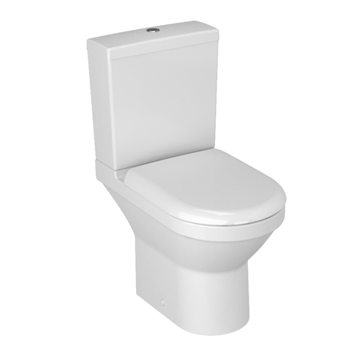 VitrA S50 Compact Close Coupled Open Back Toilet WC with Standard Seat