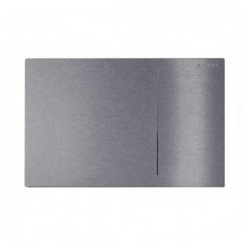 Geberit Omega 70 Dual Flush Plate for Solid Wall Brushed Stainless Steel 115.090.FW.1