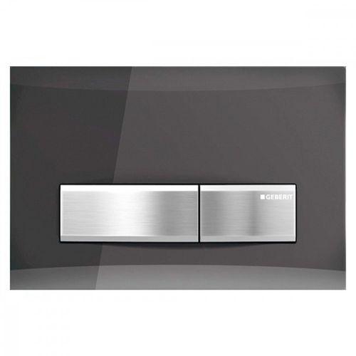 Geberit Sigma50 Dual Flush Plate Smoked Glass Reflective 115.788.SD.5
