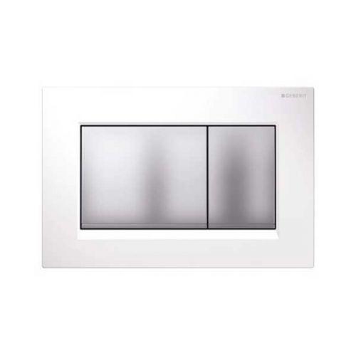 Geberit Sigma30 Dual Flush Plate White Matt Chrome 115.883.KL.1