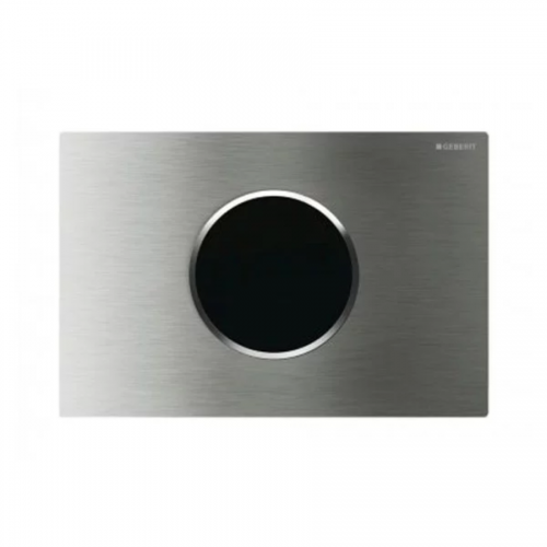 Geberit Sigma10 Mains Operated Touchless Flush Plate Brushed Steel 115.907.SN.1