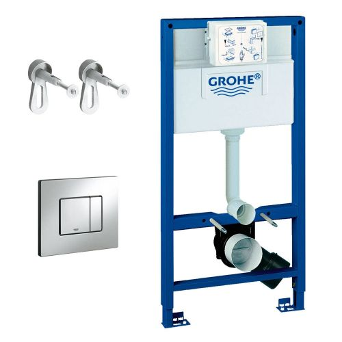 Grohe 118152 Rapid SL 1.00m 3 in 1 Set Support Frame for Wall Hung WC