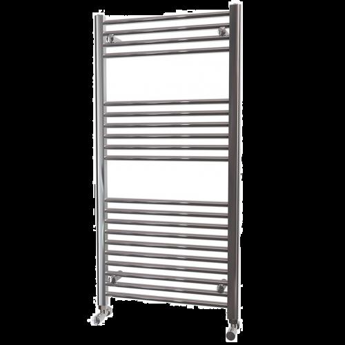 Chrome Straight Heated Towel Rail - 600mm Width