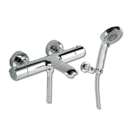 Tec Studio L Thermostatic Wall Mounted Bath Shower Mixer With Kit