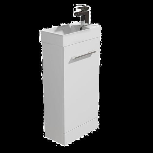400mm Vanity Unit & Basin White - Alpine