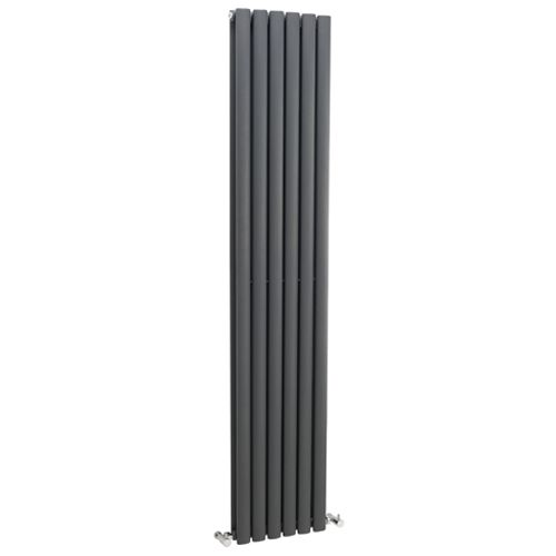 Hudson Reed Revive Anthracite Double Panel Designer Radiator H1800 x W354mm HLA77