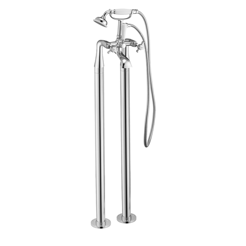 Tec Studio KC York Cross Freestanding Bath Shower Mixer
