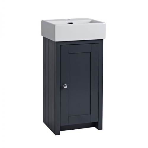 Tavistock Lansdown 400mm Cloakroom Unit Matt Dark Grey