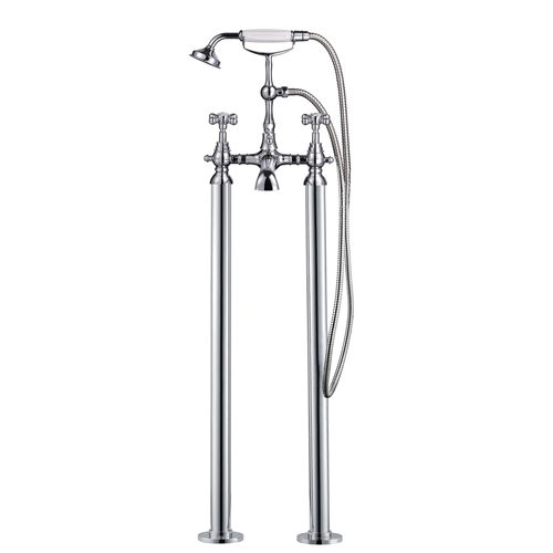 Traditional Freestanding Bath Shower Mixer - Victorian Lever By Voda Design