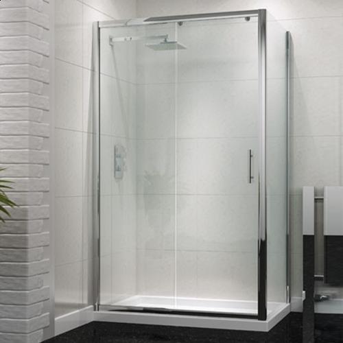 Single Sliding Shower Door - Kaso 6 by Voda Design (6mm Thick)