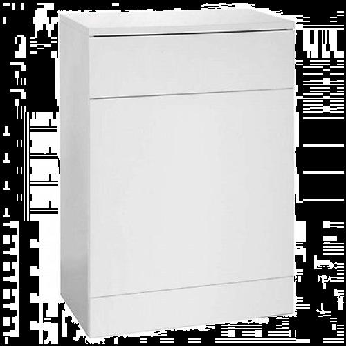 Blanco High Gloss White 500mm Back To Wall Unit