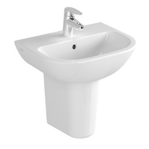 VitrA S20 Basin Options With Large Half Pedestal