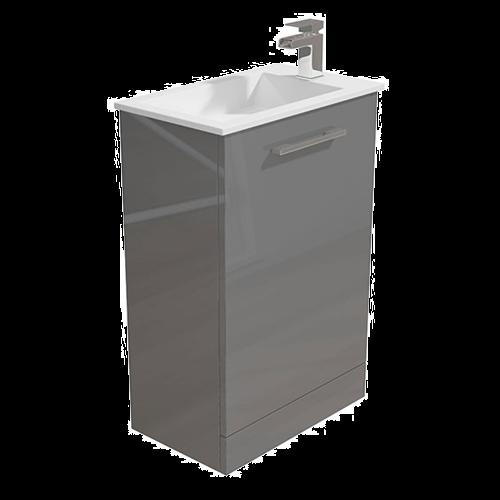 530mm Grey Vanity Unit & Basin - Alpine