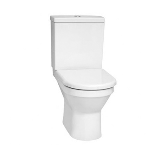 VitrA S50 Close Coupled Toilet Open Back WC with Cistern and Seat