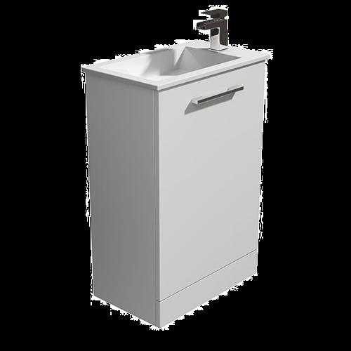 530mm White Vanity Unit & Basin - Alpine