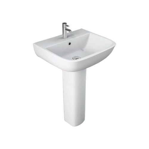 Arley Pure 550mm Basin And Pedestal