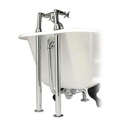 Chrome Roll Top Freestanding Bath Waste Pack