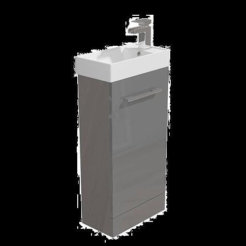 400mm Vanity Unit & Basin Grey - Alpine