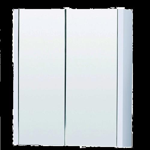 White Minimalist Mirror Cabinet 600mm - Eden