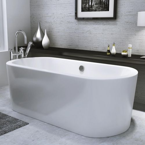 Freestanding Modern Double Ended Freestanding Bath 1700mm - Harlow by Voda Design