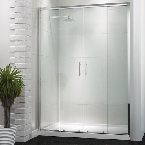 Double Sliding Shower Door  - Kaso 6 by Voda Design (6mm Thick)