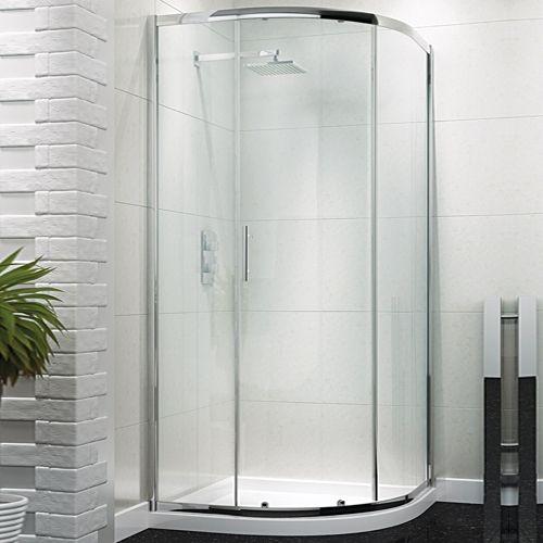 Single Door Quadrant Enclosure 900mm - Kaso 6 by Voda Design (6mm Thick)