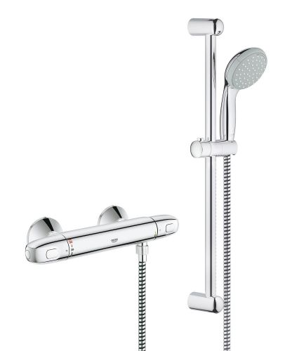 "Grohe 34557000 G1000 Thermostatic Shower Mixer 1/2"" With Shower Set"