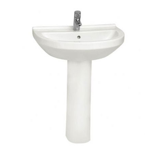 VitrA S50 Round Basin Options With Full Pedestal