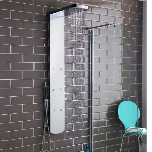 Hudson Reed Shimmer Chrome Thermostatic Shower Panel AS345