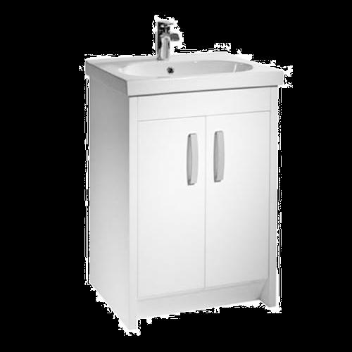 Tavistock Impact 600mm Gloss White Floorstanding Vanity Basin Unit
