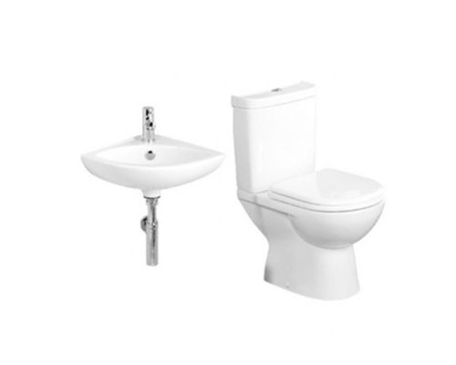 Tavistock Micra Cloakroom Suite with Wall Hung Corner Basin