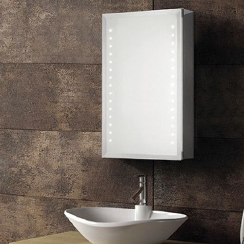 Synergy Aries Aluminium Mirror Cabinet With Shaver Socket