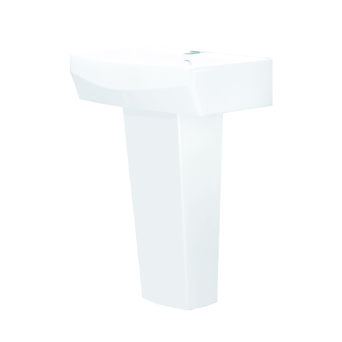 550mm 1 Tap Hole Basin And Pedestal - R20 By Voda Design