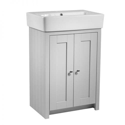Tavistock Lansdown Pebble Grey 550mm Floorstanding Washbasin Unit