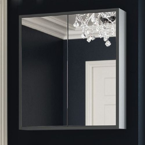 Synergy Henbury 800mm Mirror Cabinet - Grey