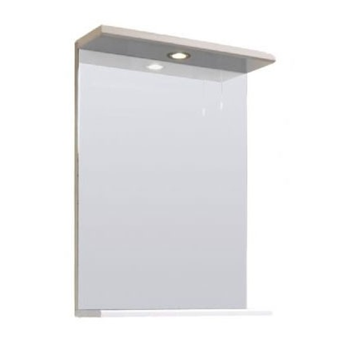 White Gloss 450mm Mirror and Light Canopy - Blanco by Voda Design