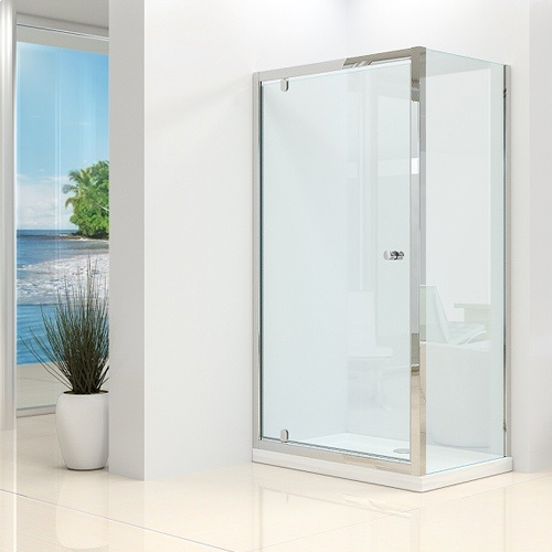 Synergy Vital 4mm Pivot Shower Door and Side Panel Pack