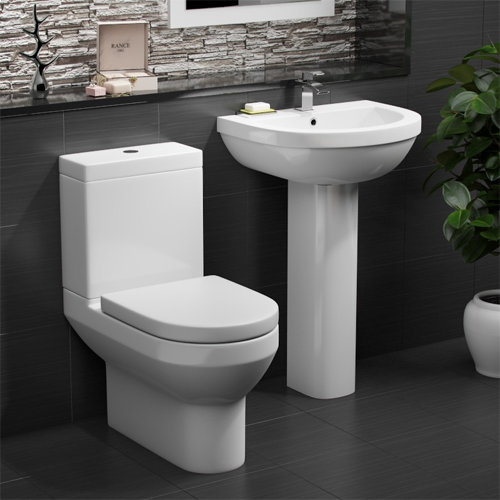 Alpha Modern Toilet and Basin Set
