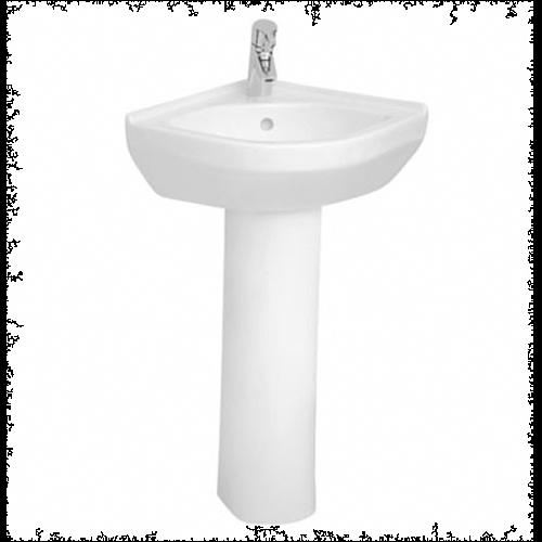 VitrA S50 40cm Corner Basin with Pedestal