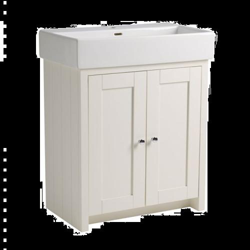 Tavistock Lansdown 700 Floorstanding Washbasin Unit Linen White