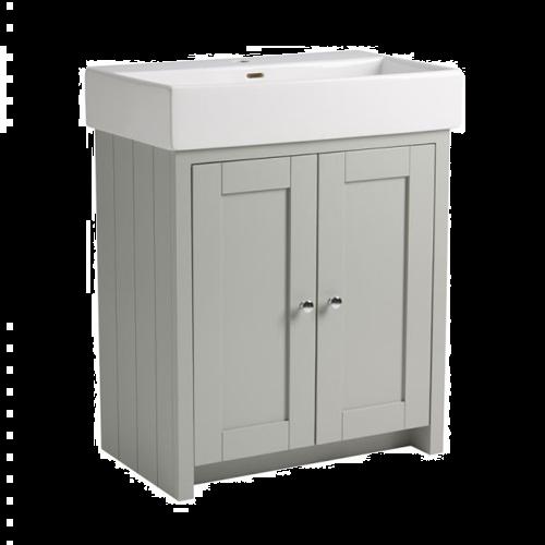 Tavistock Lansdown 700 Floorstanding Washbasin Unit Pebble Grey
