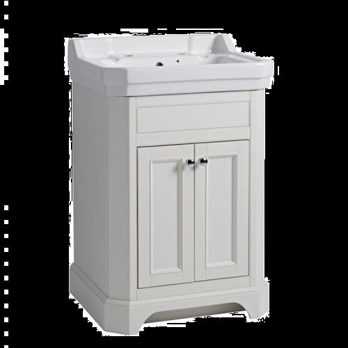 Tavistock Vitoria 600 Freestanding Basin Unit Linen White