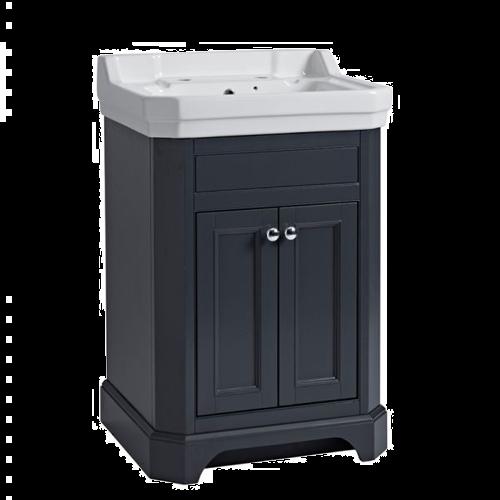 Tavistock Vitoria 600 Freestanding Basin Unit Dark Grey
