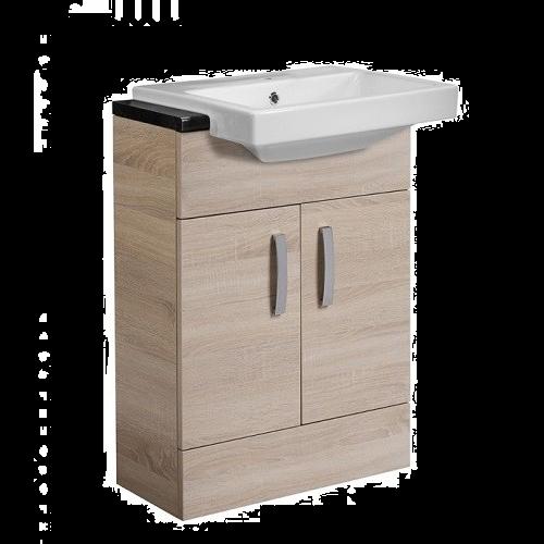 Tavistock Courier 600mm Countertop Vanity Basin Unit - Oregon Oak
