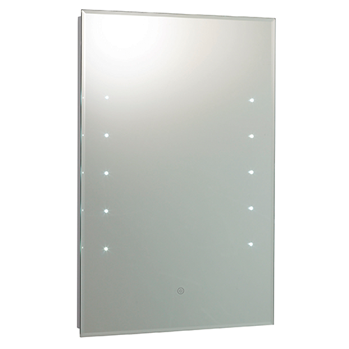 Hudson Reed Alcina LED Touch Sensor Mirror with strip lighting 400mm x 600mm x 55mm LQ347