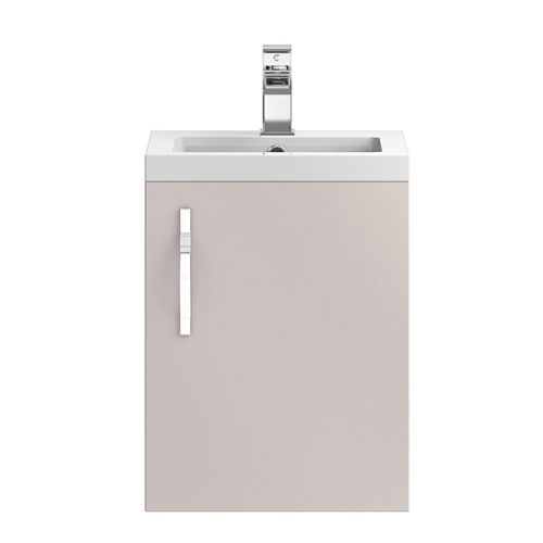Hudson Reed Cashmere Apollo Wall Hung 400mm Cabinet & Basin - APL732