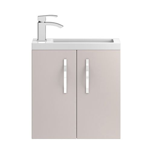 Hudson Reed Cashmere Apollo Compact Wall Hung 500mm Cabinet & Basin - APL734C