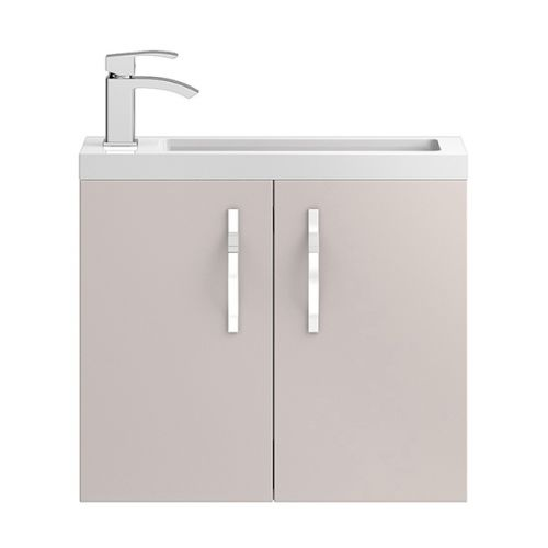 Hudson Reed Cashmere Apollo Compact Wall Hung 600mm Cabinet & Basin - APL736C